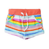 2015 New Little Maven Babymeisje Summer Stripe Cotton Beach Shorts Broek