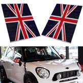 2Pcs Union Jack UK Vlag Vinyl Spiegels Stickers Voor Mini Cooper