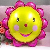 23 inch aluminiumfolie zonnebloem ballon lachende gezicht ballonnen verjaardag partij decoratie