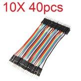 10X40 pezzi 30 cm da maschio a maschio colore Breadboard cavo per saltare Jumper per modelli RC