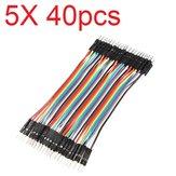 5X40 piezas 30 cm color macho a macho Breadboard salto de cable Alambre Jumper para modelos RC