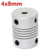 4mm x 8mm Aluminum Flexible Shaft Coupling OD19mm x L25mm CNC Stepper Motor Coupler Connector