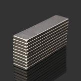 10pcs n52 40x10x2mm bloque super fuerte imanes de tierras raras de neodimio cuboides imanes