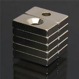 10個N50 20×10×4ミリメートル4ミリメートルホールスーパー強力ブロックマグネット希土類ネオジム磁石