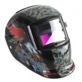 Halcón luchando soldadores máscara de oscurecimiento auto solar del casco de soldadura de molienda