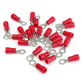 25pcs Red Rubber PVC Terminals Insulated Ring Connector RC 0.5-1.5mm²