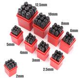 9pcs Briefmarken Numbers Set Schlag Stahlmetallformwerkzeugs