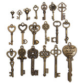 19pcs antico vintage vecchia chiave sguardo scheletro arco set molto cuore pendente bloccare gioiello steampunk