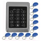 Đầu đọc thẻ bảo mật RFID Bàn phím khóa cửa Hệ thống kiểm soát truy cập + 10 phím