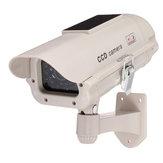 2300ソーラーパワーダミーデコイ偽セキュリティシミュレーションカメラ監視点滅LED