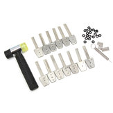 HUK 14Pcs Stainless Steel Key Picks Bit Set With Hammer Lock Picks Tools