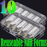 10pcs nail art argent formes de guidage d'extension acrylique gel uv