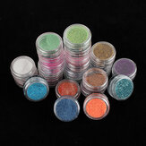 24 Color Acrylic Glitter Nail Art Decoration Dust Powder Set