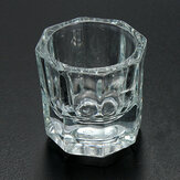 Professional Nail Art Crystal Glass Cup For Acrylic Liquid Powder
