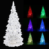 Crystal LED Christmas Xmas Tree 7 Colors Changing Night Light