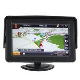 4.3 İnç LCD Araba Arka Görünüm Monitör ile LED Kamera için Arka Işık DVD