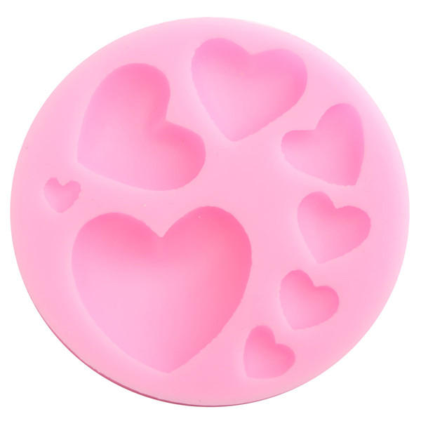 Beautiful Silicone Heart Love Shape Fondant Mold Mould 3D Cake Mold Cake Decoration фото
