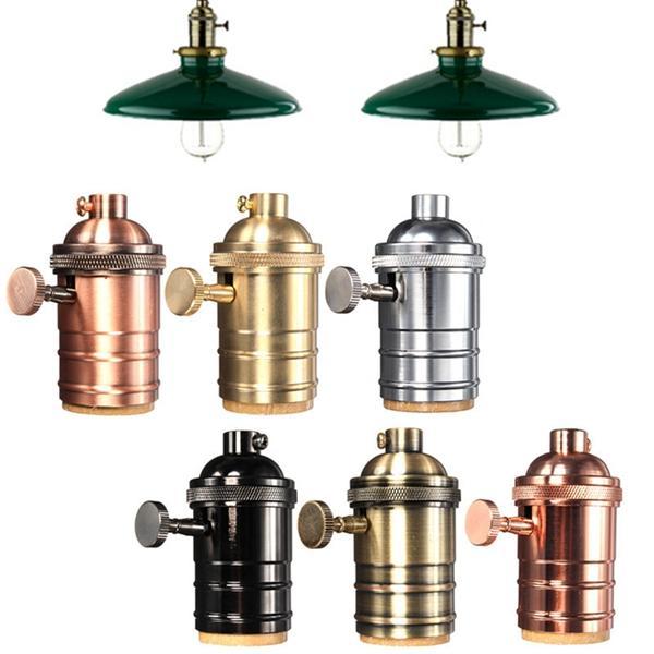 Supporto ba<x>se Portalampada Vintage Edisone per Lampada E27 con Manopola 110-220v