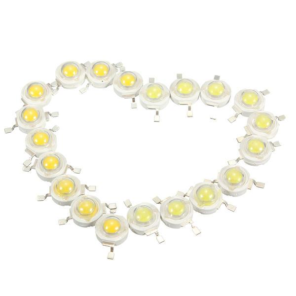 10pcs 3W LED Lamp Bulb Chips 200-230Lm White/Warm White Beads