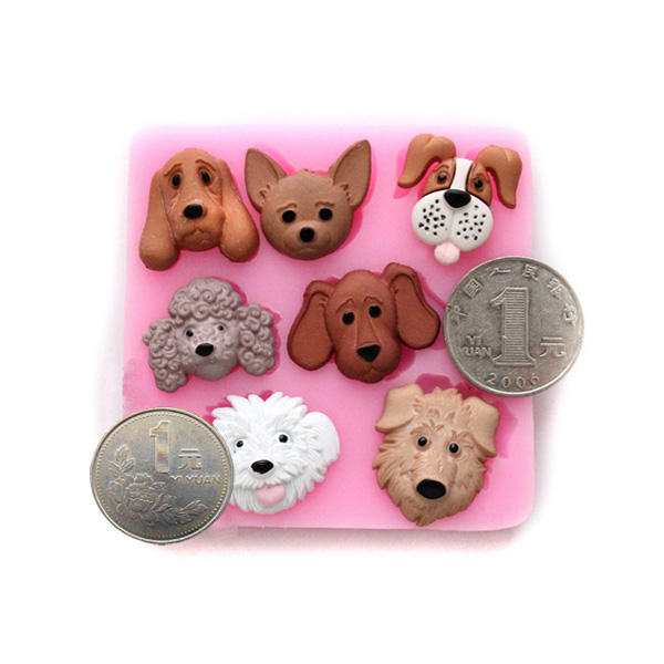 3D Cartoon Dogs Silicone Cake Mold Fondant Cake Decorating Tools, Banggood  - buy with discount