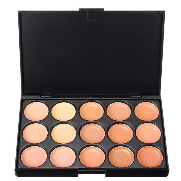 15 Colors Face Makeup Cosmetic Cream Facial Concealer Palette