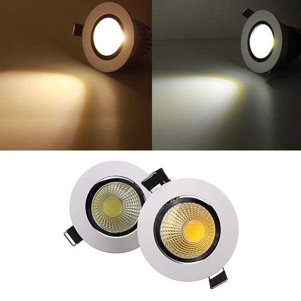 half off b0d38 1bb5b 5W Dimmable COB LED Recessed Ceiling Light Fixture Down Light 220V
