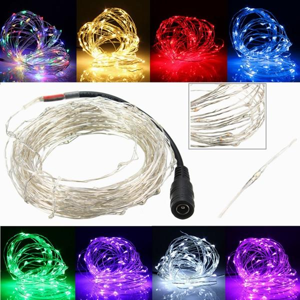 Christmas Vines.2m 180 Led Copper Wire Christmas Vines String Fairy Light Waterproof Dc12v