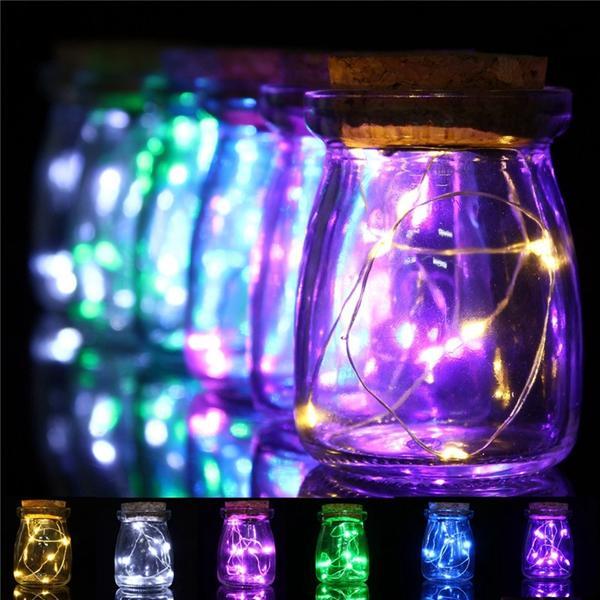 Romantic Xmas 10 LED Colours Seed Vase Lights Wedding Centrepiece Fairy Lights