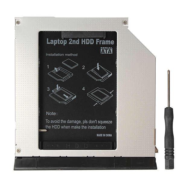 SATA 2nd HDD SSD Caddy Bay Adapter for Dell E6330 E6430 E6430s