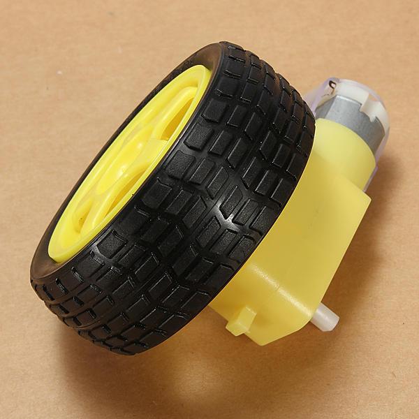 4Pcs Rubber Wheel + DC Gear TT Motor Set For Arduino Smart Robot Car
