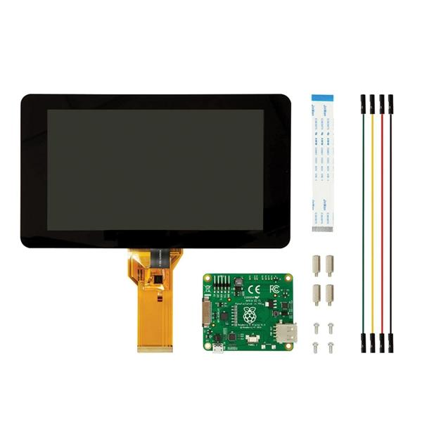 Official Raspberry Pi 7 Inch Touchscreen Display With Acrylic Base Holder For Raspberry Pi 4/3B/2B/A+