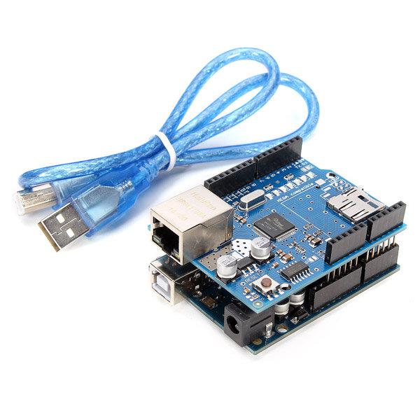 Geekcreit® UNO R3 USB Development Board With Ethernet Shield W5100 Kit For Arduino