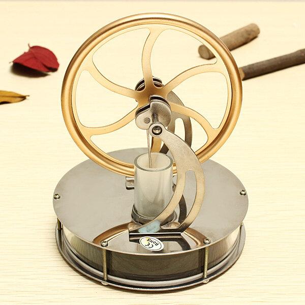 STEM Nízkoteplotní rozdíl Stirling Engine DIY Toy Gift Decor Collection