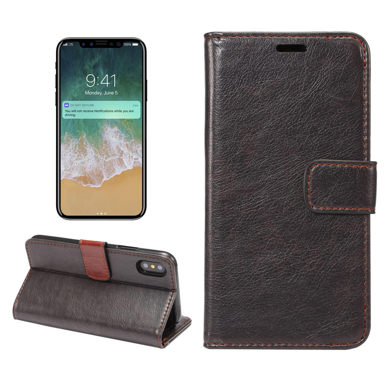 Bakeey Magnetisk Flip Wallet Card Slot Kickstand Beskyttelsesveske til iPhone X