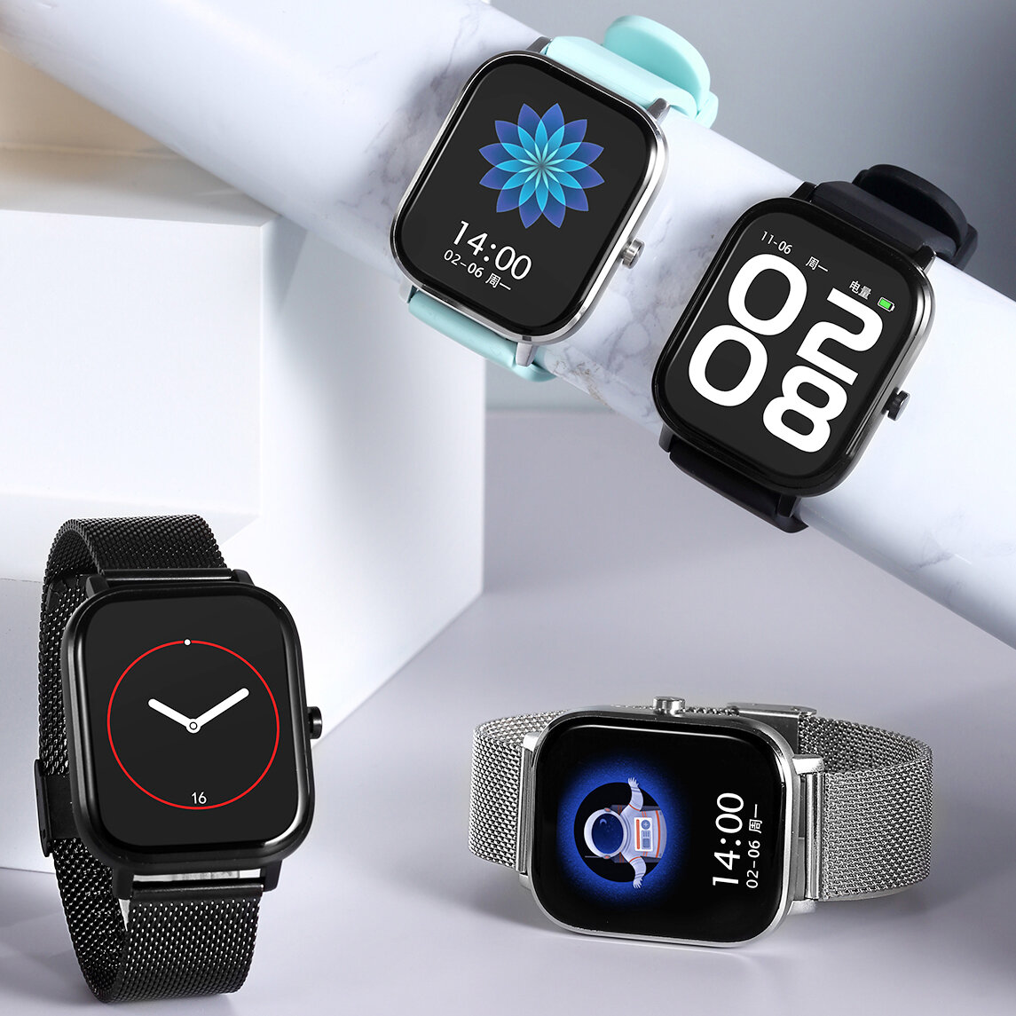 [bluetooth Call]DT NO.1 DT35+ 1.75 Inch 320*385px Screen AI Voice Assistant ECG Heart Rate Blood Pressure SpO2 Monitor Multi-language Support Smart Watch