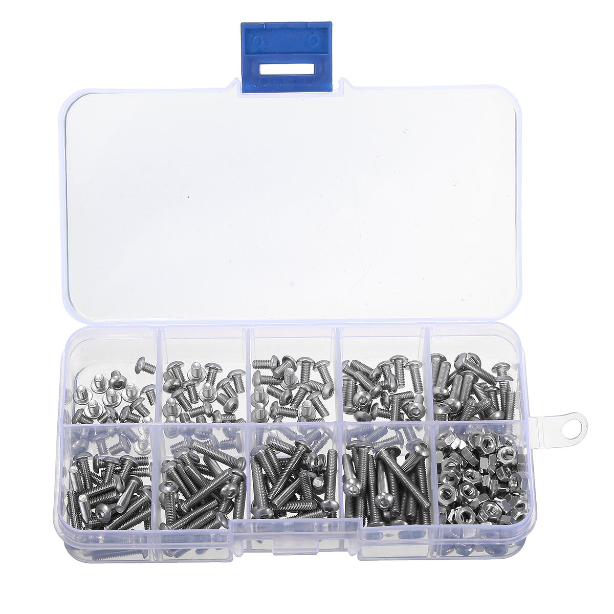 Suleve™ M3SS1 M3 Stainless Hex Socket Button Head Screws Allen bolt Nut  Assortment Kit 340pcs