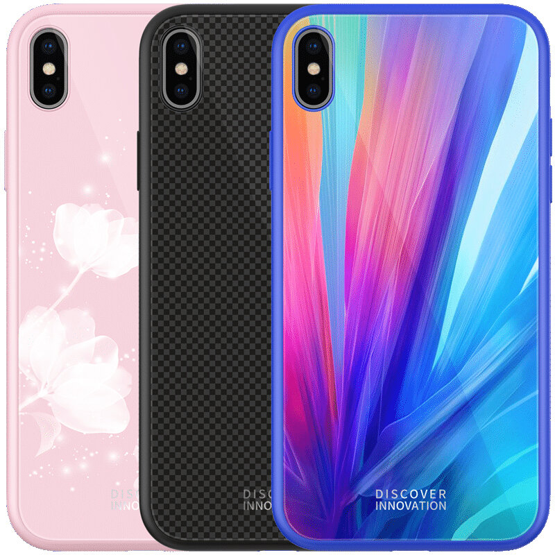 san francisco fa9c6 f1112 NILLKIN Shockproof Tempered Glass + Soft TPU Back Cover Protective Case for  iPhone XS