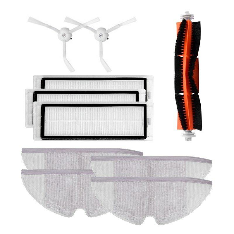 10pcs/lot New Main brush Hepa Filter Side brush Mop cloths Kit for Xiaomi mijia Robot Vacuum Cleaner Roborock S50 S51 S55 Roborock 2 Xiaowa