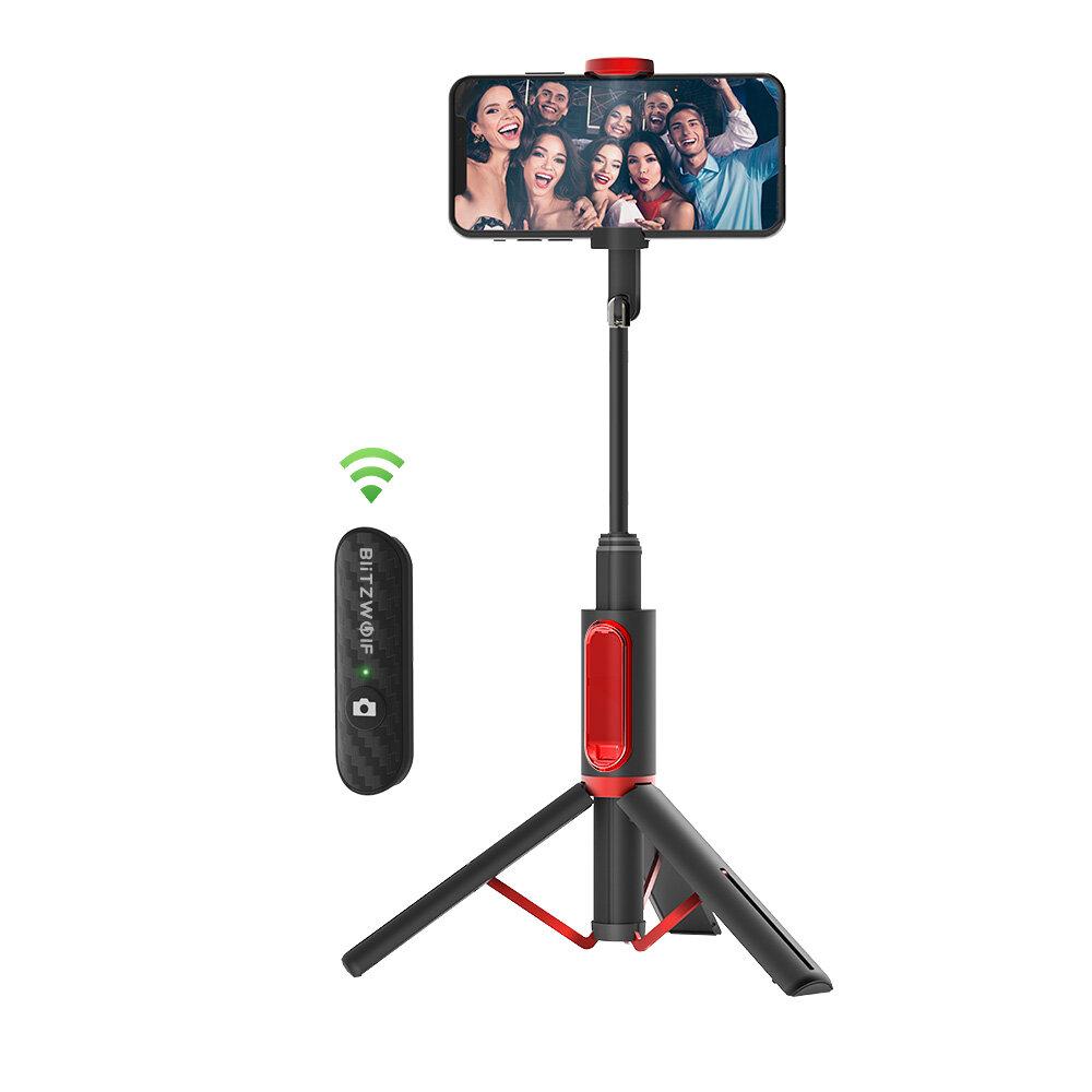 BlitzWolf ® BW-BS10 הכל ב One Bluetooth נייד Selfie Stick מוסתר טלפון Clamp עם חצובה נשלפת