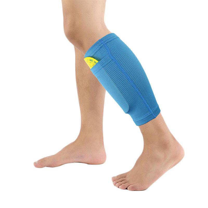 KALOAD 1PC Nylon Soccer Protective Leg Shin Guard Sock Football Pads Leg Sleeve Support With Pocket