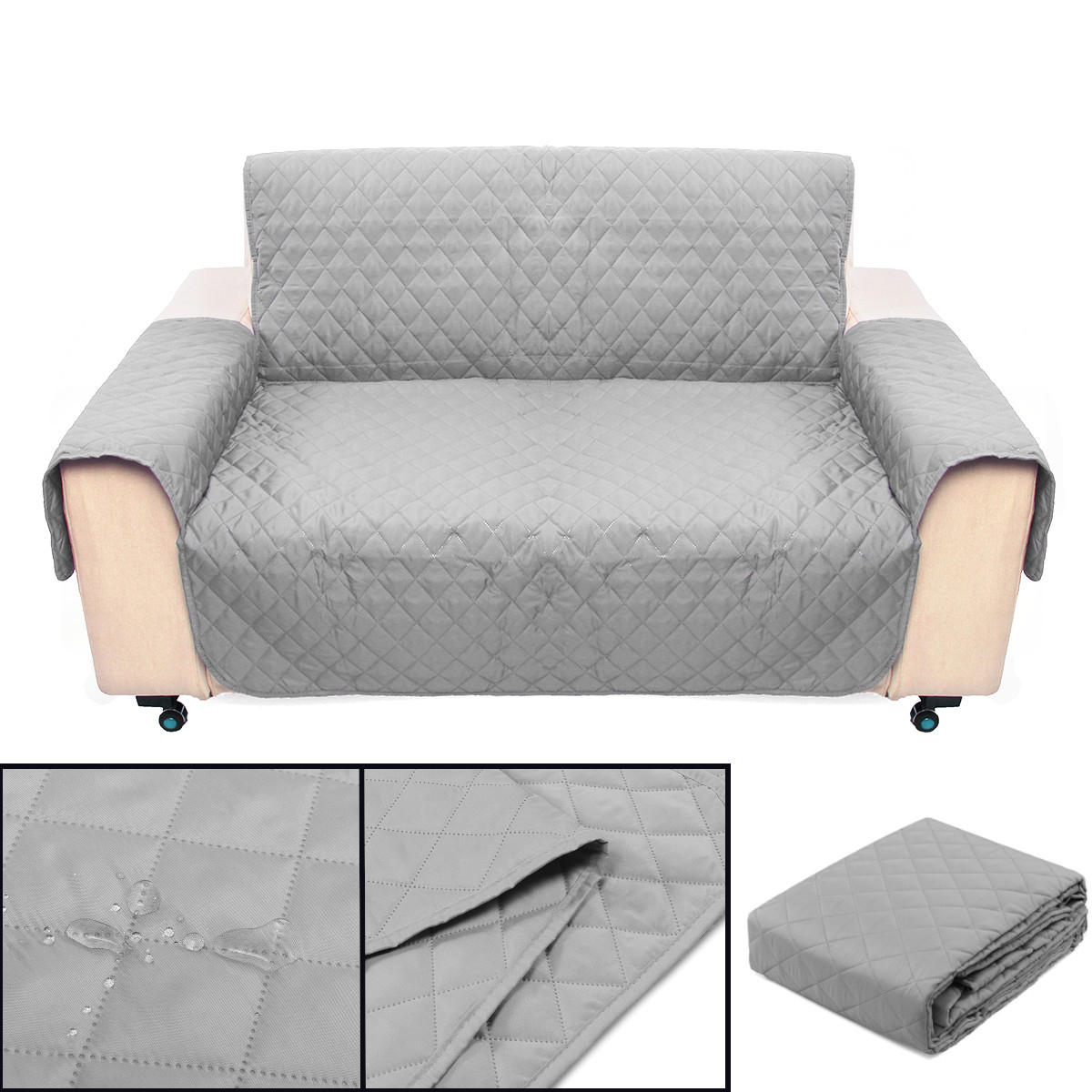 Sofa Couch Protector Cover Removable W