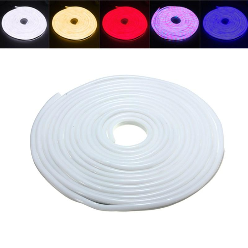 10M 2835 LED Flexible Neon Rope Strip Light Xmas Outdoor Waterproof 110V