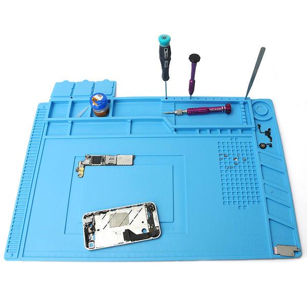 Soldering Repair Maintenance Work Platform Heat Insulation Silicone Desk Pad Mat