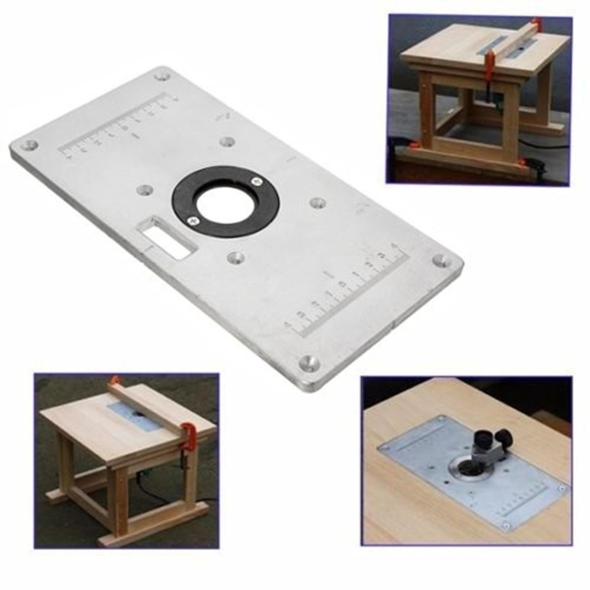 Bảng định tuyến nhôm 235mm x 120mm x 8 mm Tấm chèn cho bàn làm việc gỗ