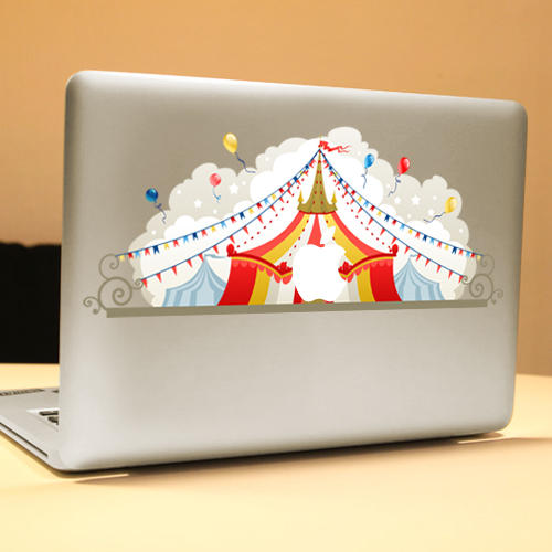PAG Circus Dekorativ Laptop Dekal Removable Bubble Free Selvklebende Partial Color Skin Sticker