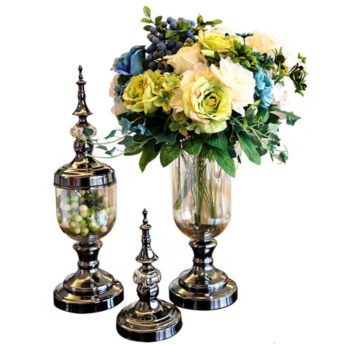 European Glass Flower Vase Floral Holder Wedding Party Home Office Decorations фото