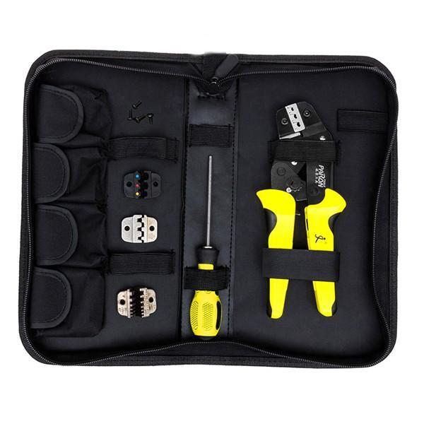 Paron® JX-D4 Multifunctional Ratchet Crimping Tool 26-10 AWG Terminals Pliers Kit