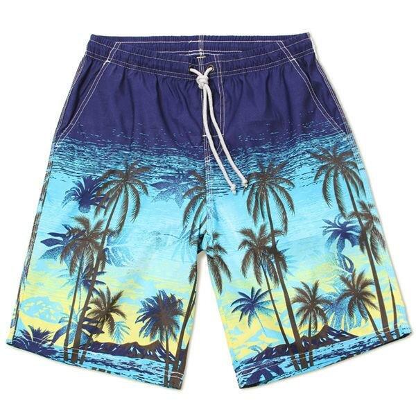 पुरुषों त्वरित सुखाने पनरोक समुद्रतट अवकाश समुद्र तट शॉर्ट्स आरामदायक लूज पांचवें तैराकी पैंट
