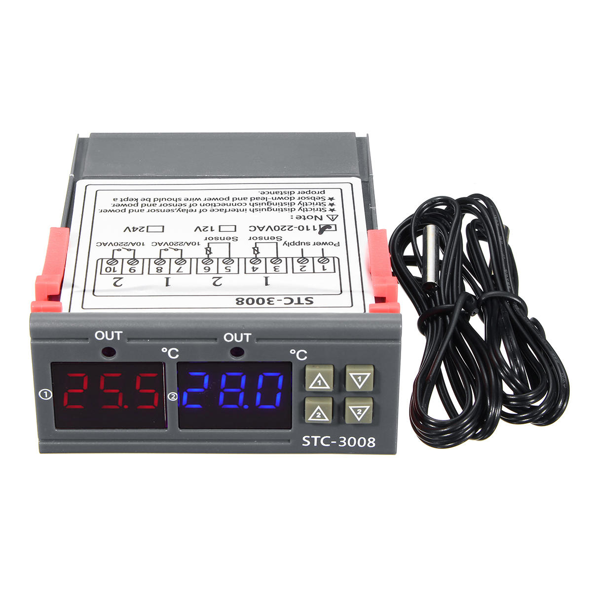 110-220V STC-3028 Dispaly Temperature Humidity Thermostat Controller Temperature Humidity Control Thermometer Hygrometer Controller