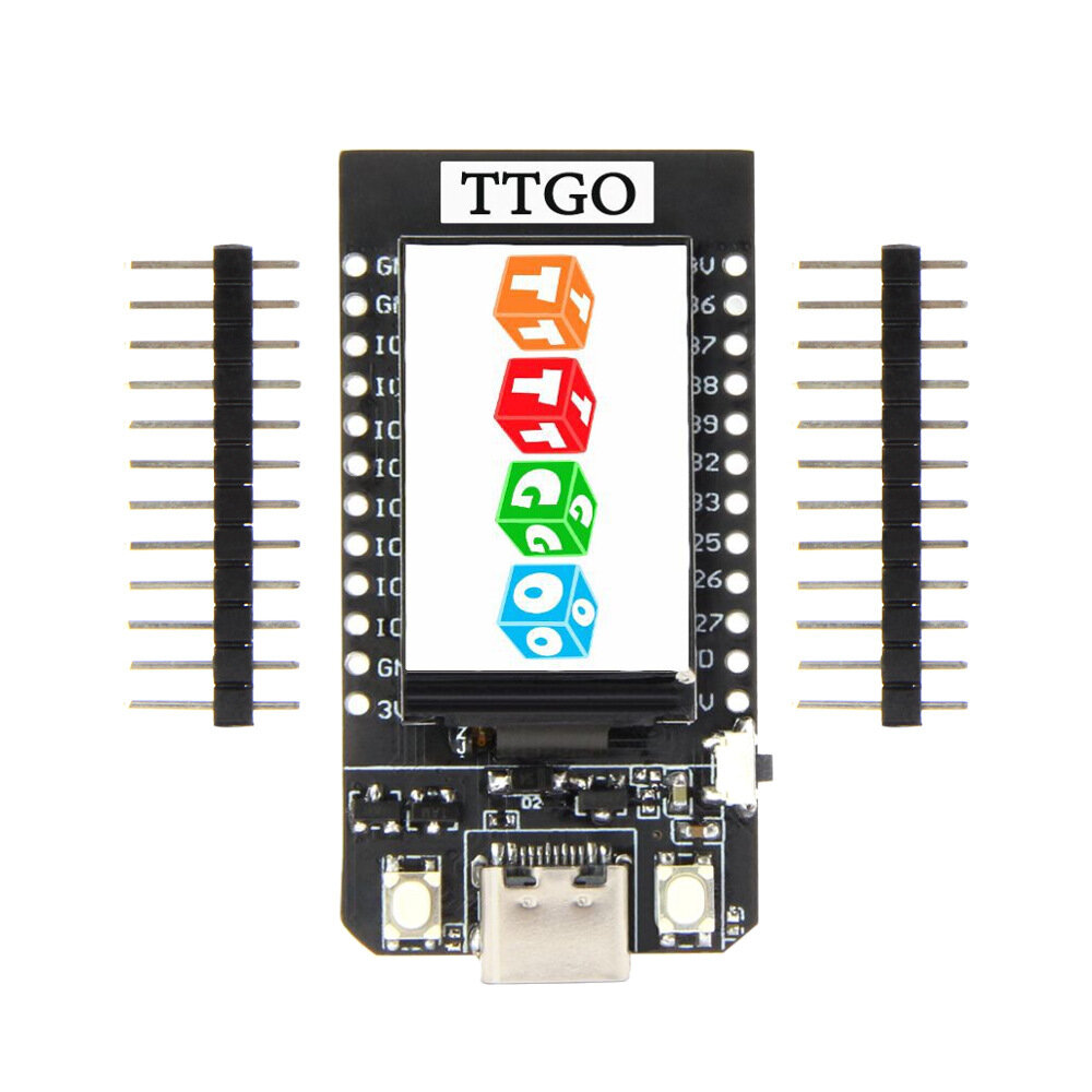 2pcs TTGO T-Display ESP32 CP2104 WiFi Bluetooth Module 1.14 Inch LCD Development Board LILYGO for Arduino - products that work with official Arduino boards